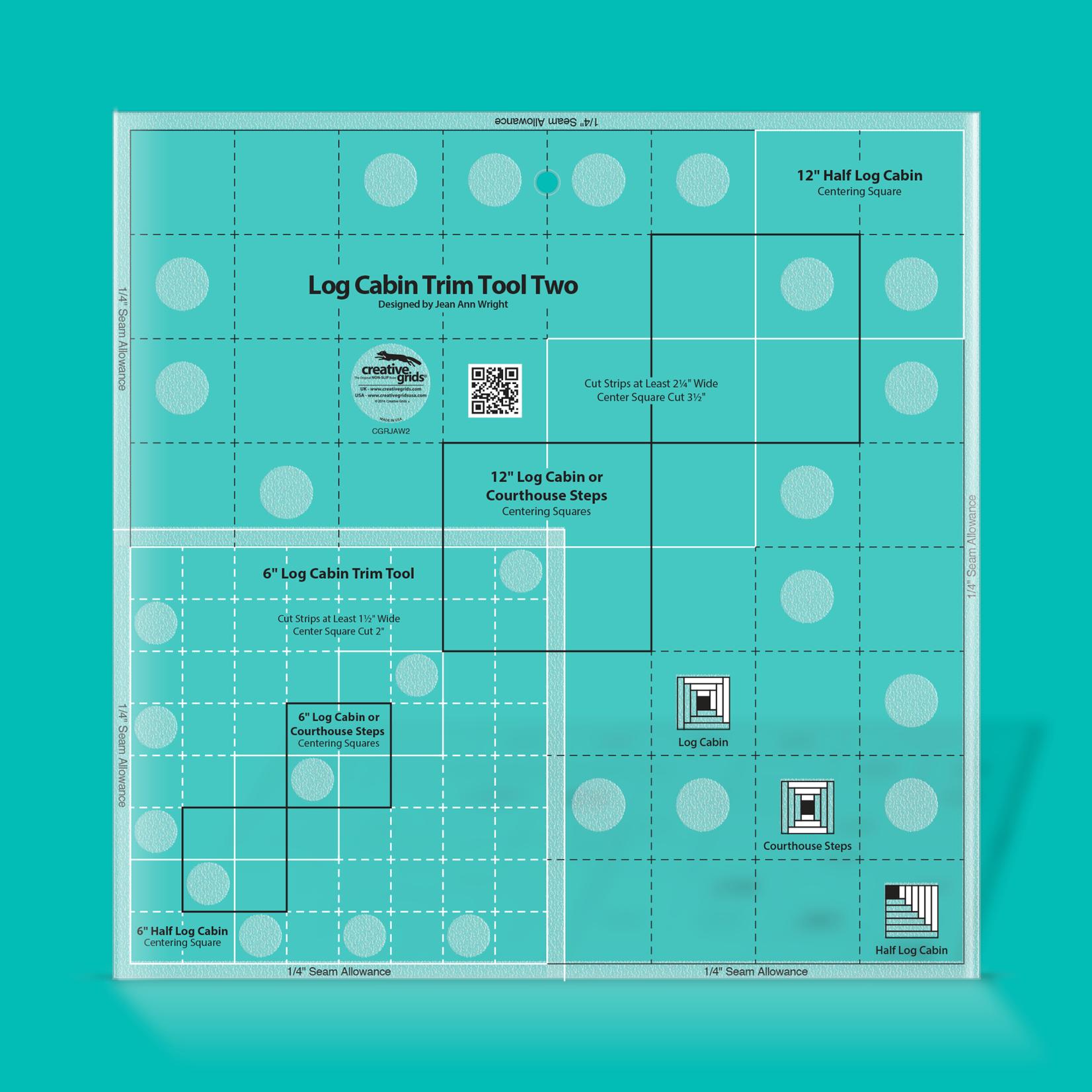 "Creative Grids Creative Grids 6"" & 12"" Log Cabin Trim Tool CGRJAW2"