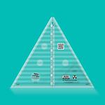 "Creative Grids Creative Grids 60 Degree Triangle 8-1/2"" CGRT60"