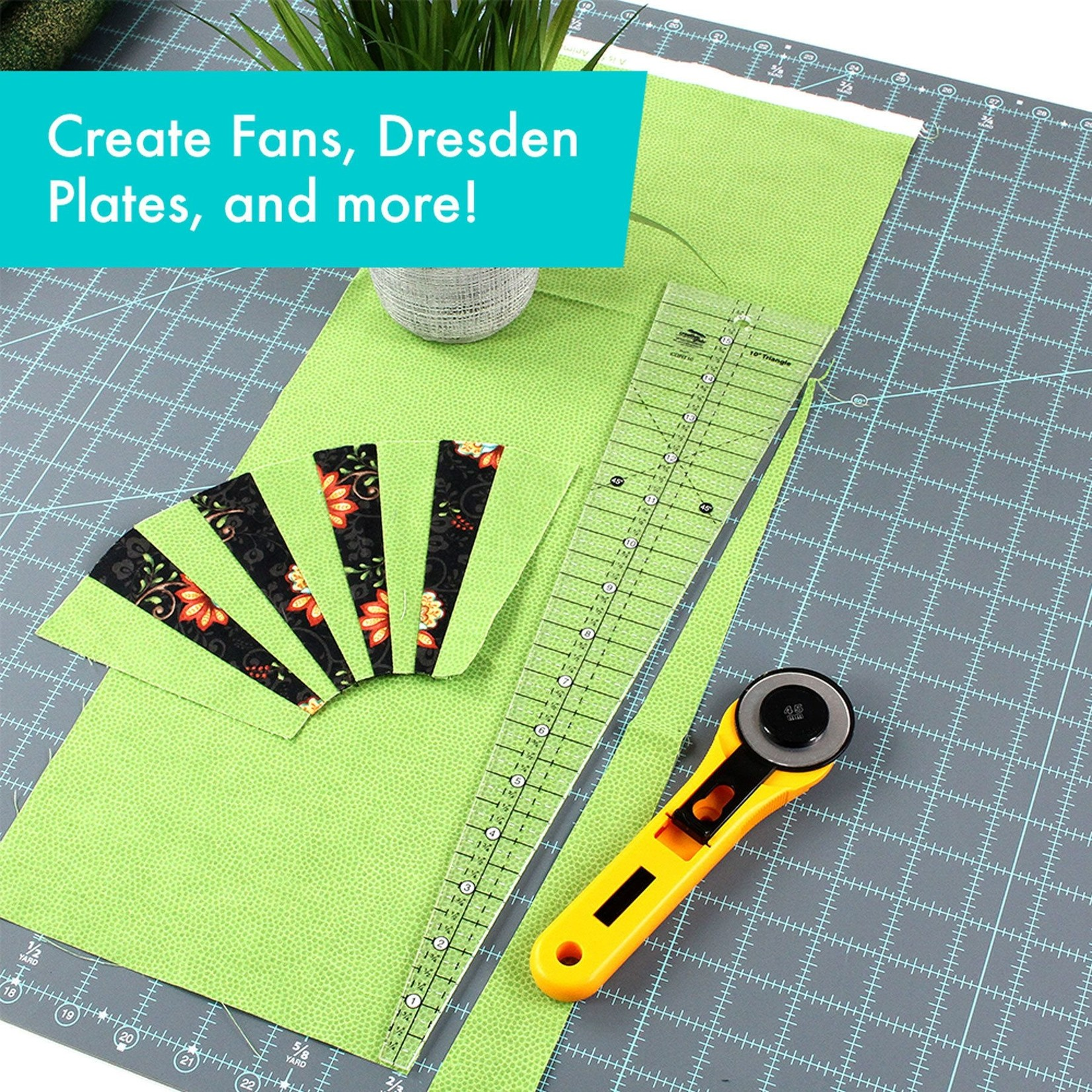 """Creative Grids Creative Grids 10 Degree Triangle (finished up to 16-1/2"""") CGRT10"""