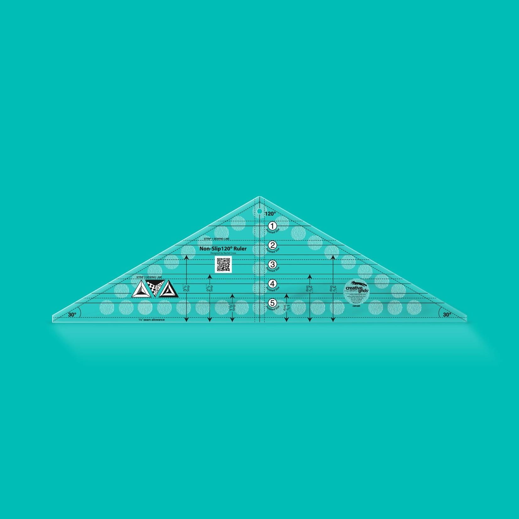 "Creative Grids Creative Grids 120 Degree Triangle 6-1/2"" x 21-1/2"" CGR120R"