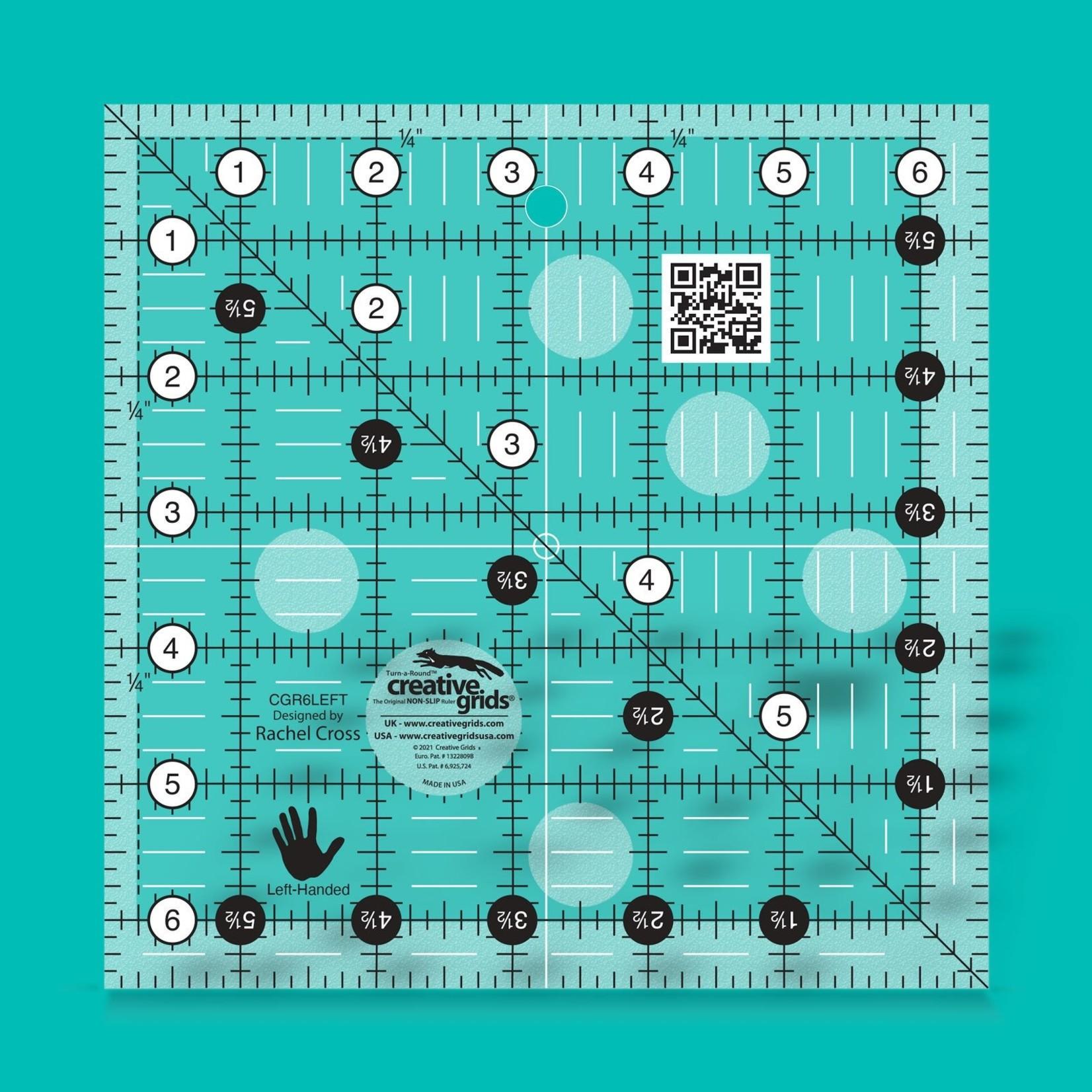 "Creative Grids Creative Grids 6-1/2"" Left-Handed Square CGR6LEFT"