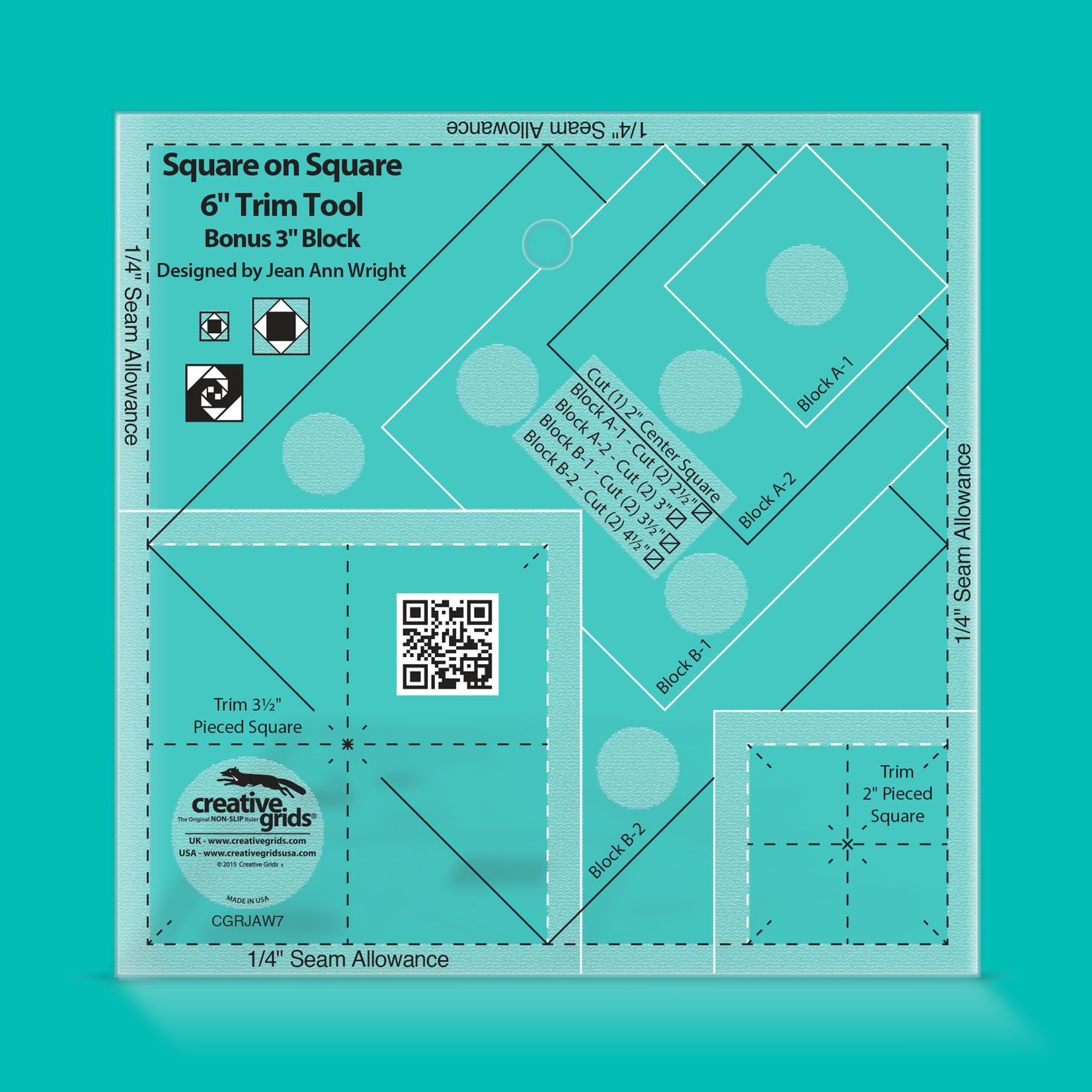 "Creative Grids Creative Grids 6"" Square on Square Trim Tool CGRJAW7"