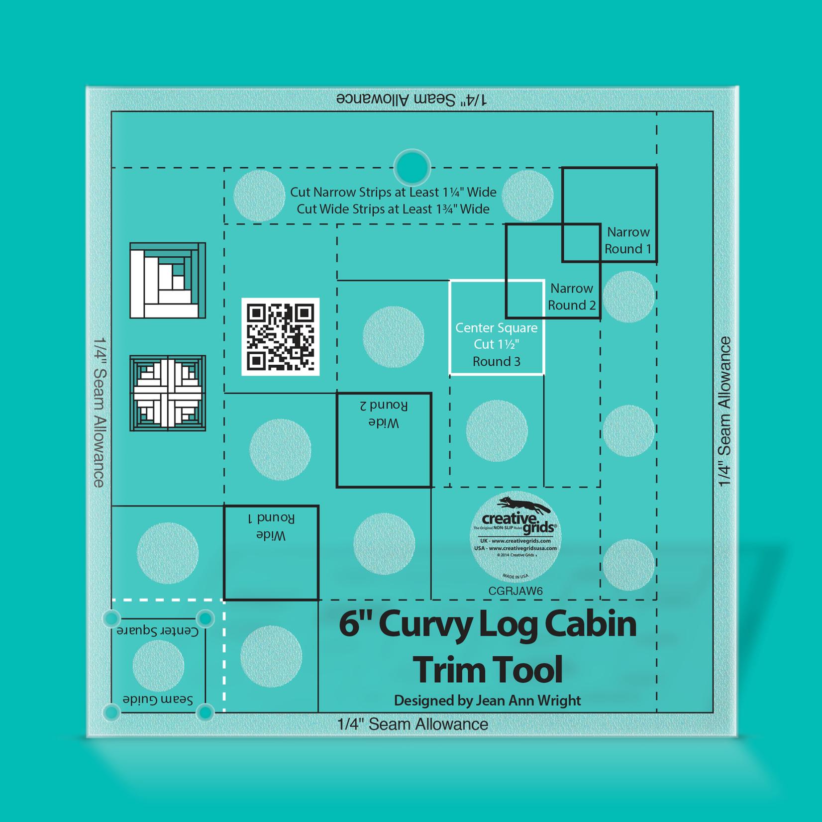 "Creative Grids Creative Grids 6"" Curvy Log Cabin Trim Tool CGRJAW6"