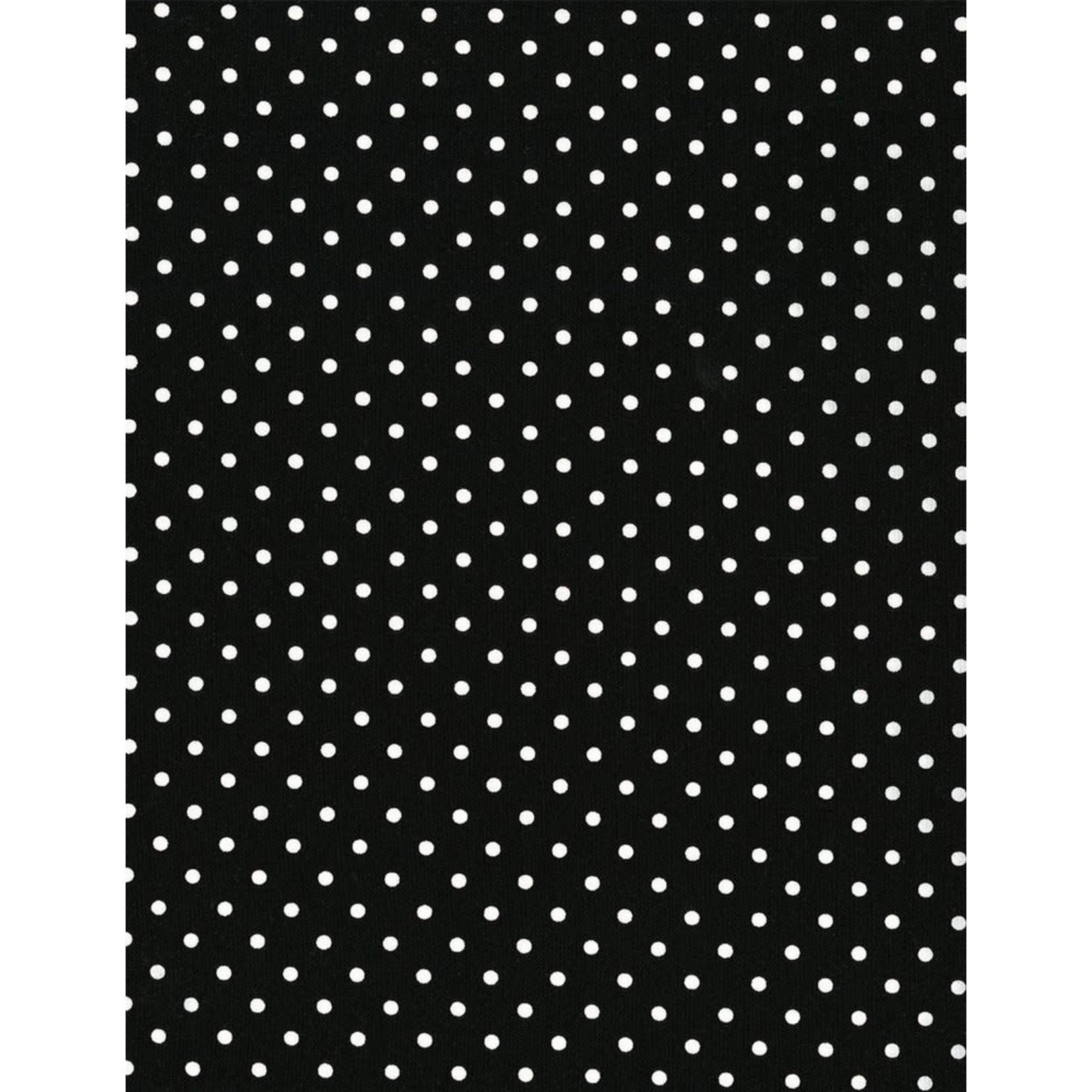 Timeless Treasures Dot, Black (DOT-1820-BLACK) $0.20 per cm or $20/m
