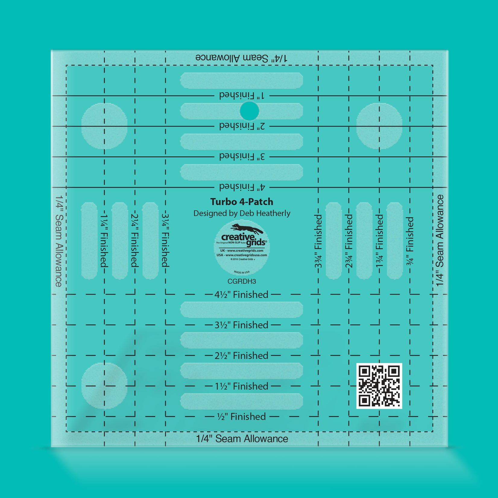 Creative Grids Creative Grids Turbo 4-Patch Template CGRDH3