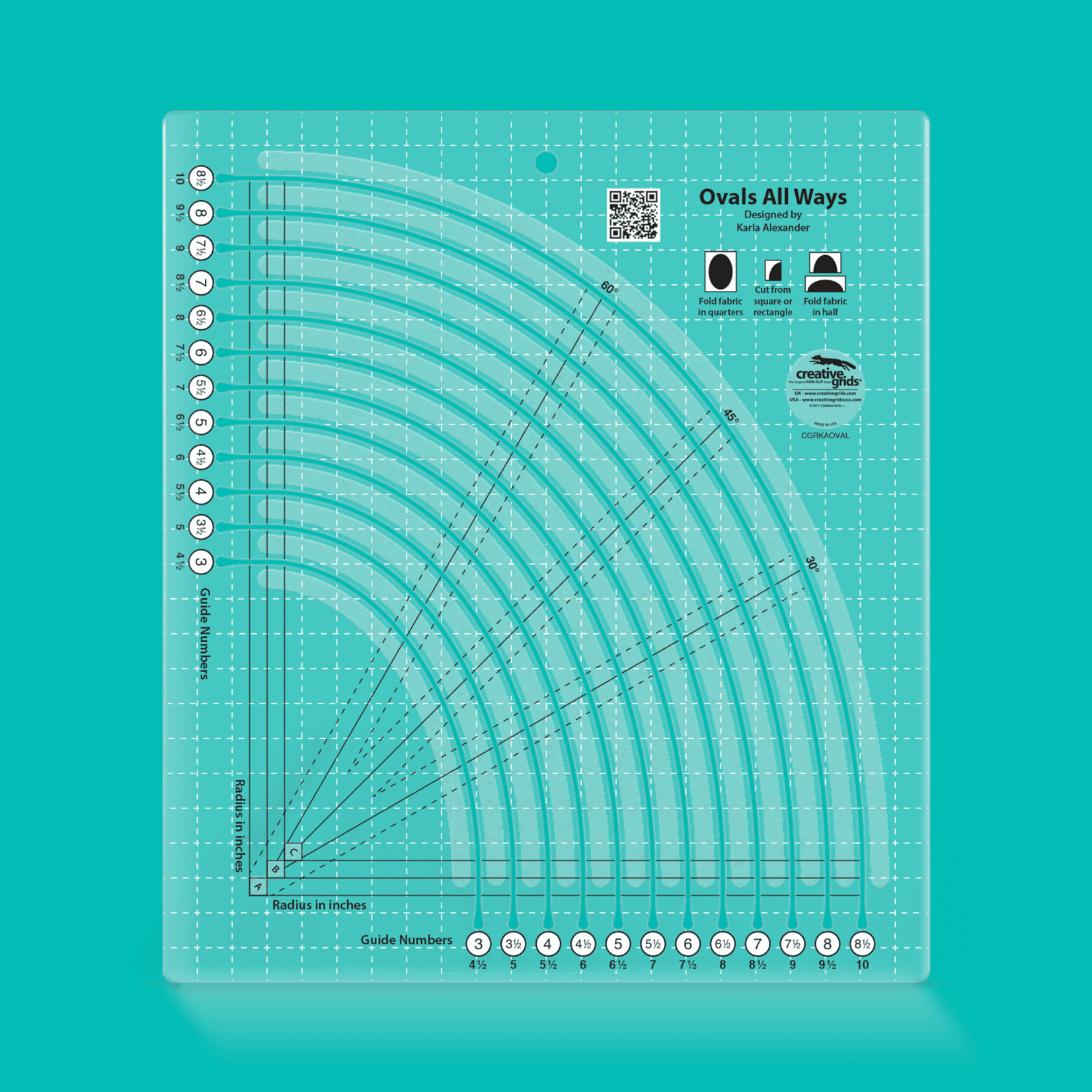 Creative Grids Creative Grids Ovals All Ways CGRKAOVAL