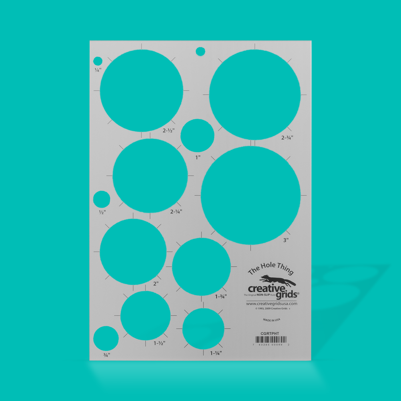 Creative Grids Creative Grids The Hole Thing Circle Template CGRTPHT