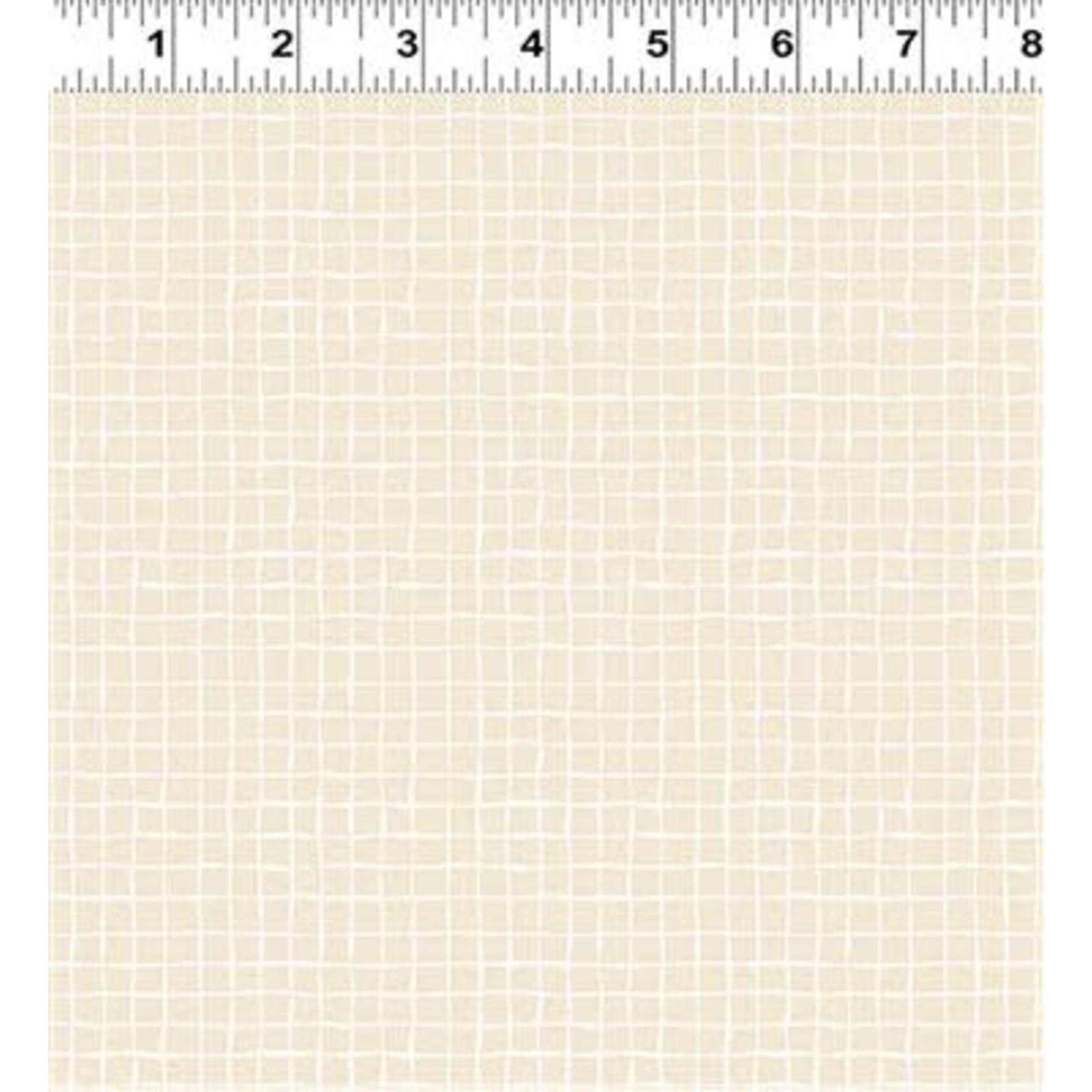 Clothworks Floribunda, Tonal Check, Light Khaki (Y3196-113) $0.20 per cm or $20/m