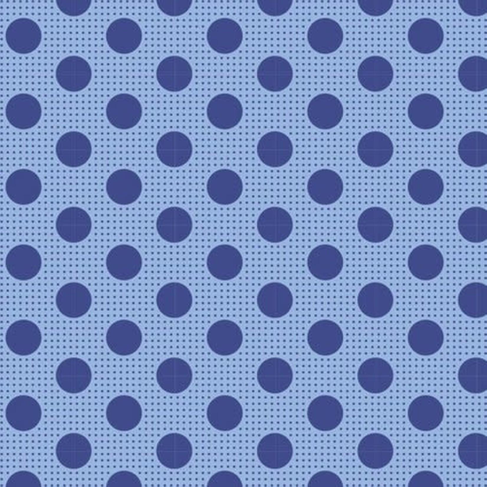 Tilda 55CM.  Tilda Basics Medium Dots, Denim Blue - per cm or $20/m