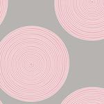 Tilda Tilda Wide Backing 108 Wide, Luna Pink/Grey 150001 $0.34 per cm or $34/m