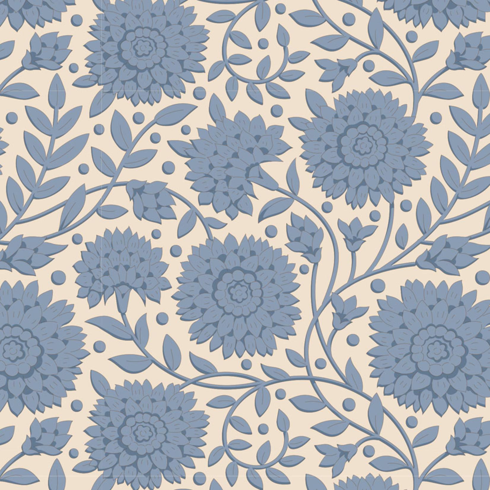 Tilda Windy Days, Aella Blenders, Blue 110030 $0.20 per cm or $20/m