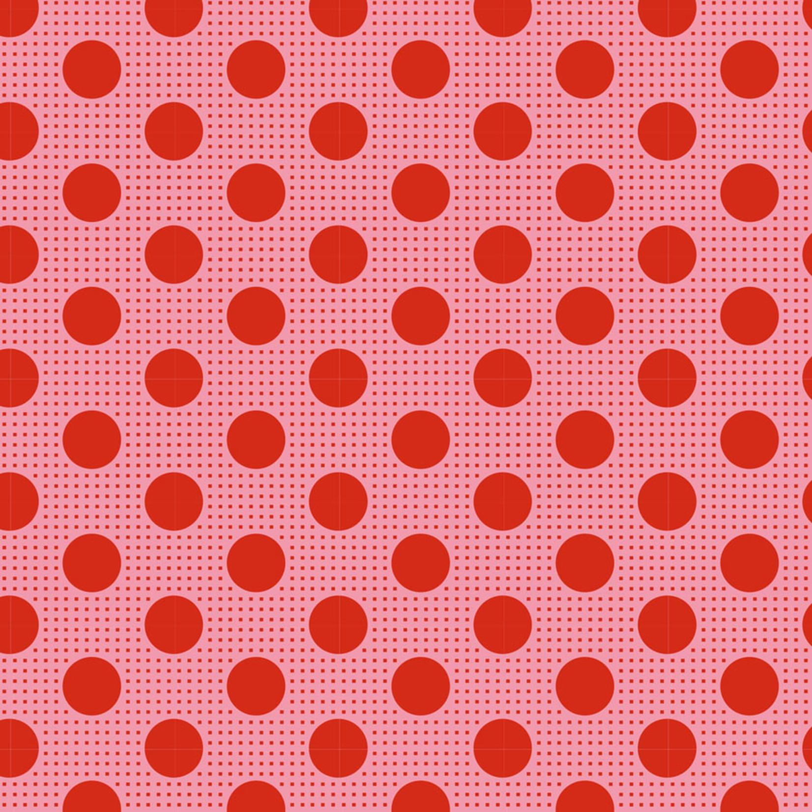 Tilda Tilda Basics, Medium Dots, Salmon 130028 $0.20 per cm or $20/m