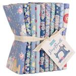 Tilda Tilda Basic, Fat Quarter Scrap Bundle, Blues 10 pcs 300124