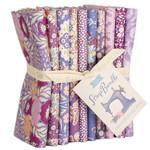 Tilda Tilda Basic, Fat Quarter Scrap Bundle, Purple/Lavender/Mauve 10 pcs 300123