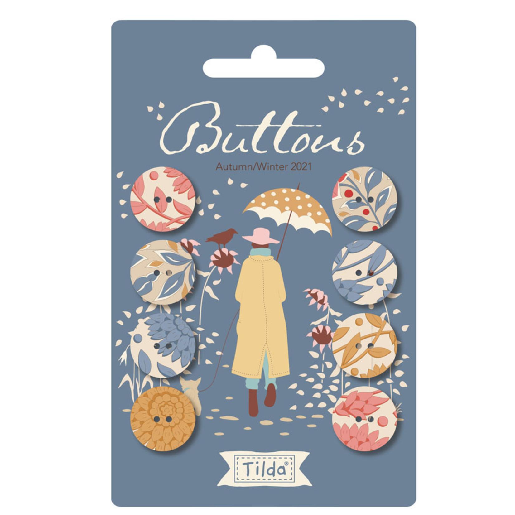 Tilda Windy Days Button Blue (16mm) 8 pcs
