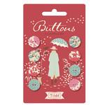 Tilda Windy Days Button Red (14mm) 8 pcs