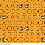 Riley Blake Designs Goose Tales, Spooky Specs Orange, per cm or $20/m Halloween