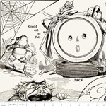 Riley Blake Designs Goose Tales, Tall Tales Allover Motifs Off White, per cm or $20/m Halloween