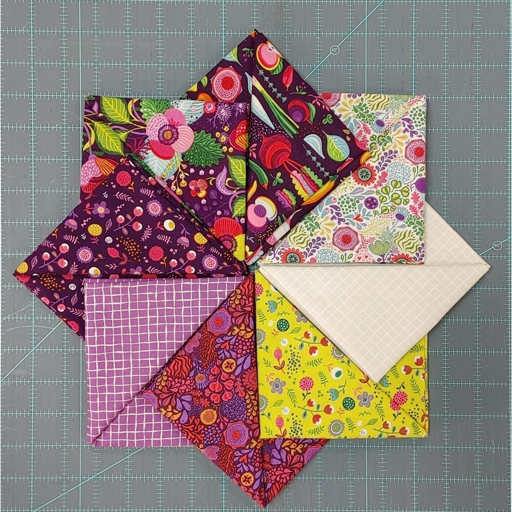 Clothworks Floribunda, Purples Fat 1/4 Bundle - 8 Pcs