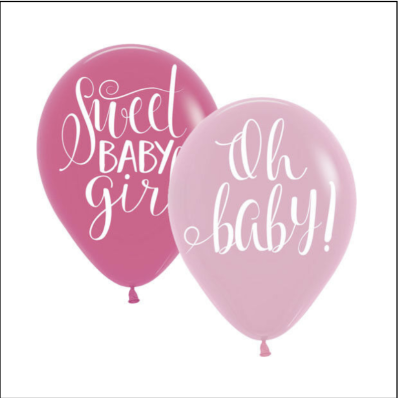 Floral Baby Latex Balloons - 15 Count (Latex Only)
