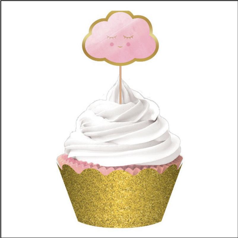 Baby Shower 'Hello World' Deluxe Cupcake Kit