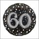 "Sparkling 60th Birthday Mylar Balloon  - 36"""