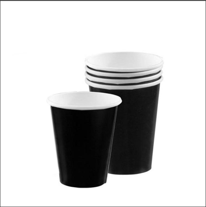 12oz Black Paper Coffee Cup 40 per Pack