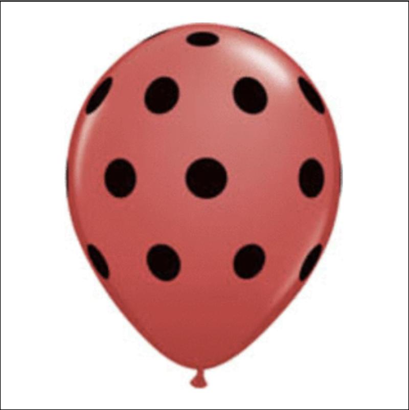 red/black polka dot