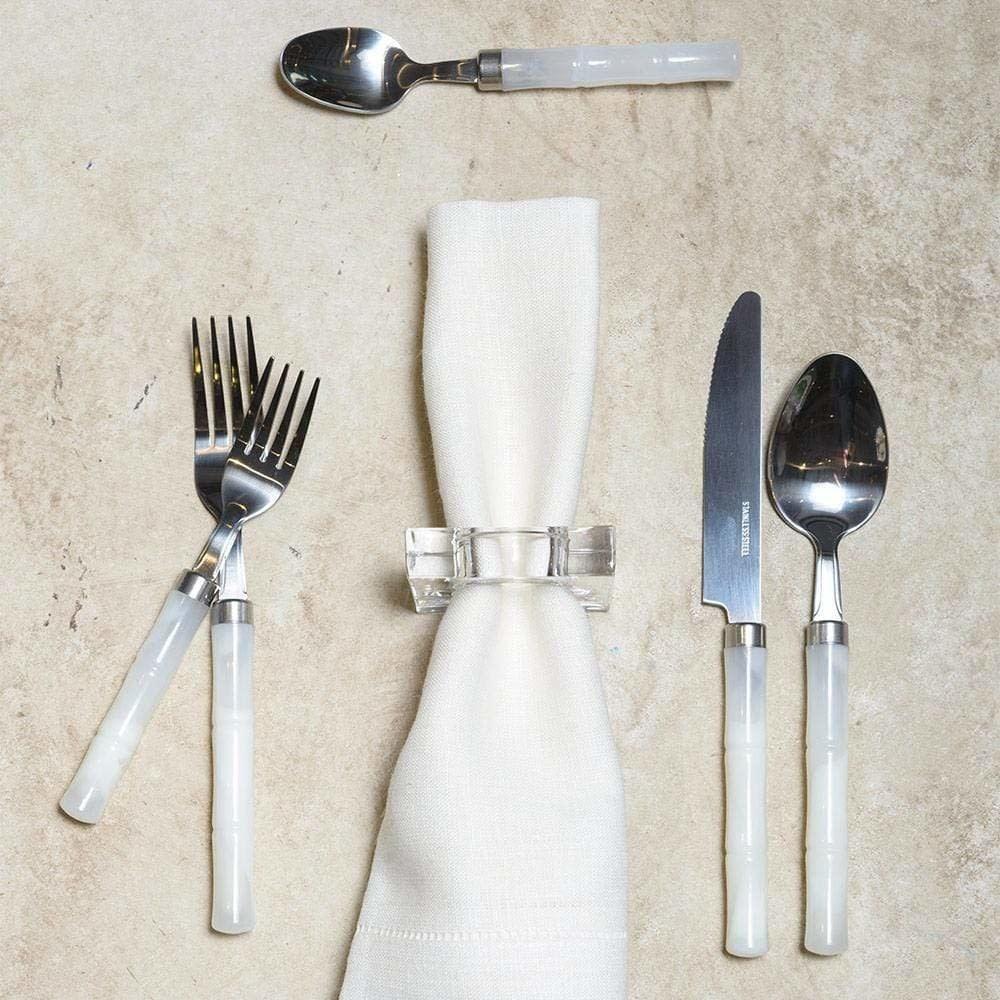 Cutlery Set - Bamboo White