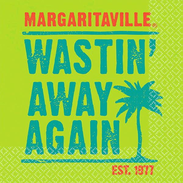 "Margaritaville ""Wastin Away Again"" Cocktail Napkin"