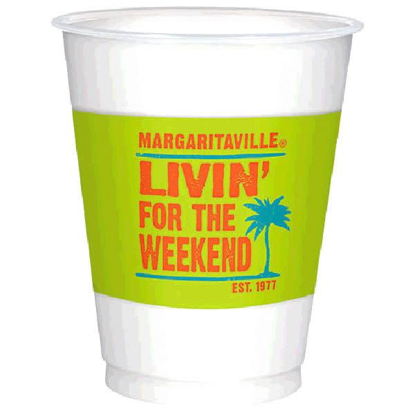 Margaritaville Plastic Cups - 25 ct