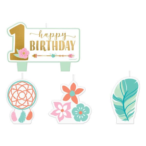 1st Dreamcatcher Happy Birthday Candle