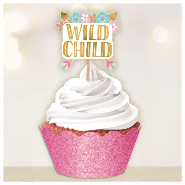"""""""Wild Child"""" Birthday Girl Cupcake Kit"""