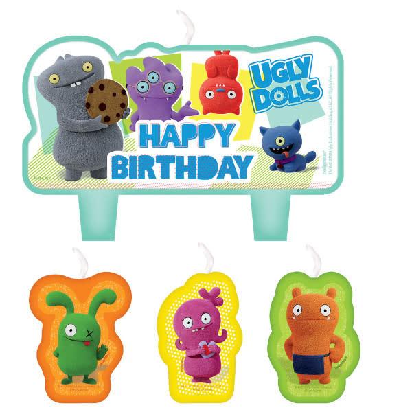 Ugly Dolls Birthday Candle Set - 4 Pcs