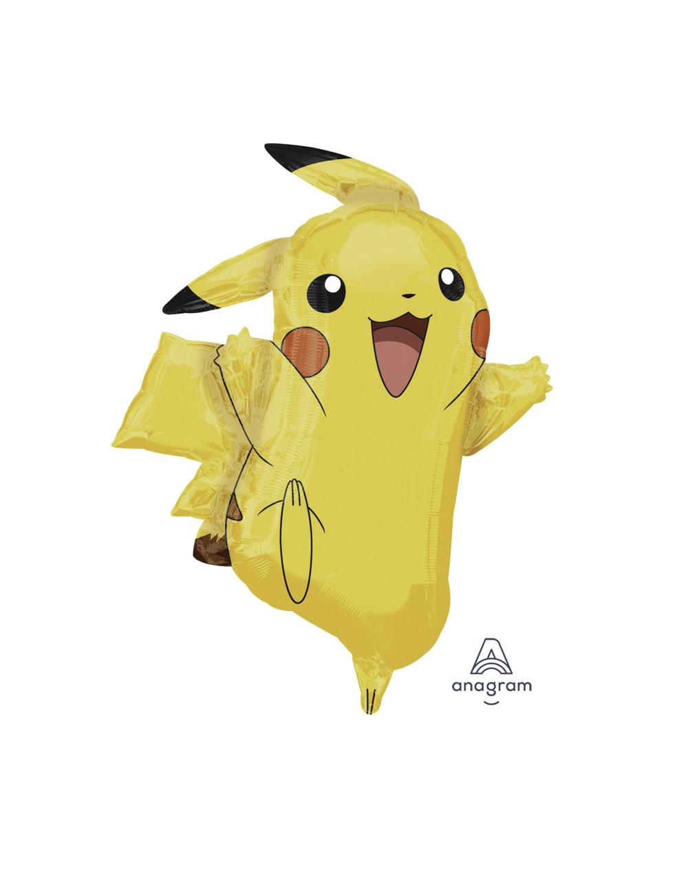 """Pikachu Shape Mylar Balloon - 31"""""""