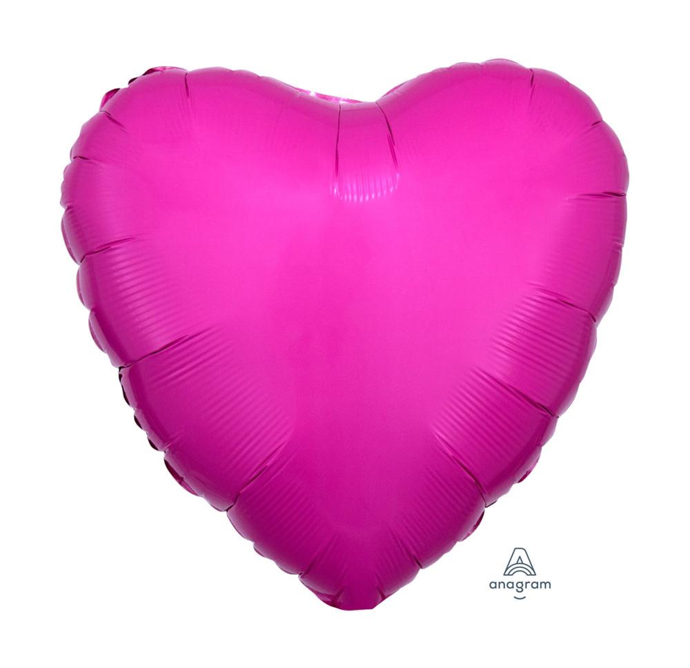 "Bubblegum Pink Heart Mylar Balloon - 18"" - #348"