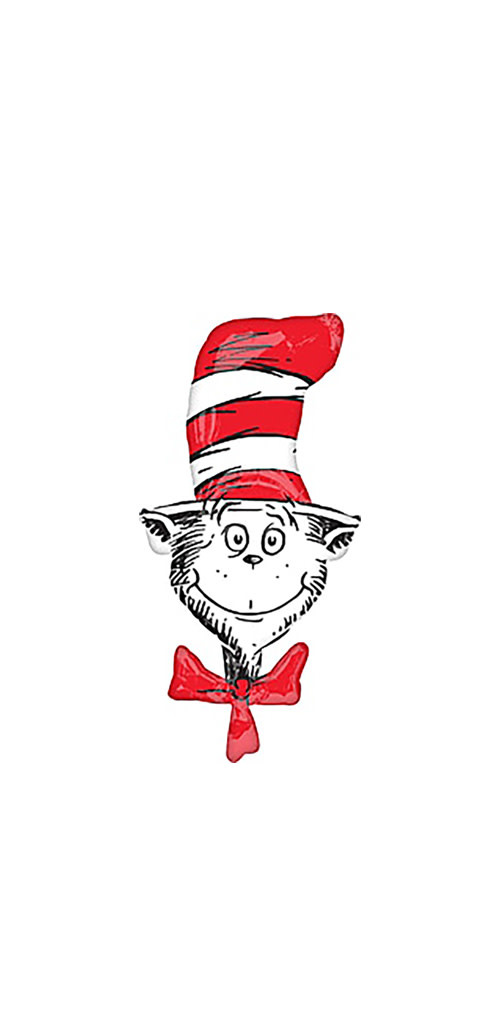 "Cat In the Hat Mylar Balloon - 42"""