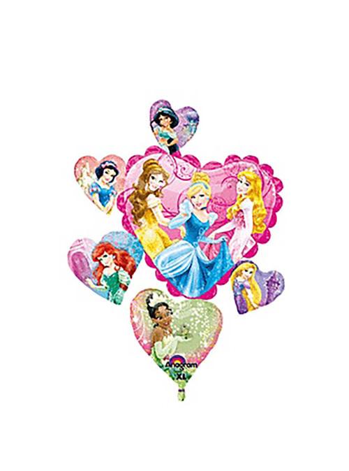 "Disney Princess Hearts Mylar Balloon - 34"""