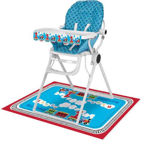 All Aboard High Chair Kit - Banner/Floor Mat