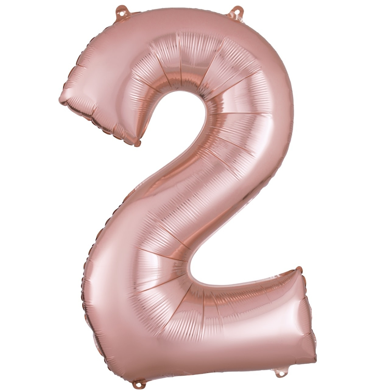 "Number ""2"" Mylar Balloon - 34"" Rose Gold"