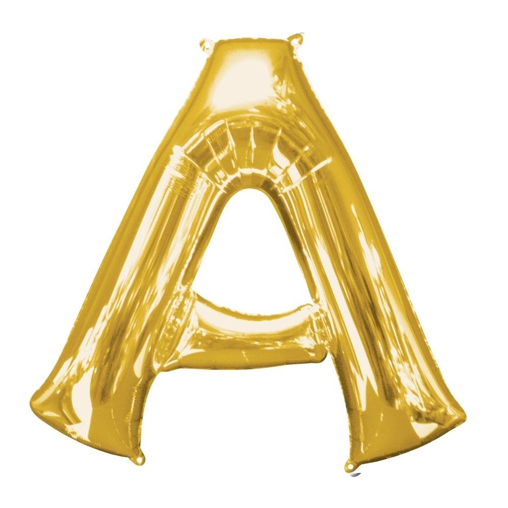 "Letter ""A"" Mylar Balloon -32"" Gold"