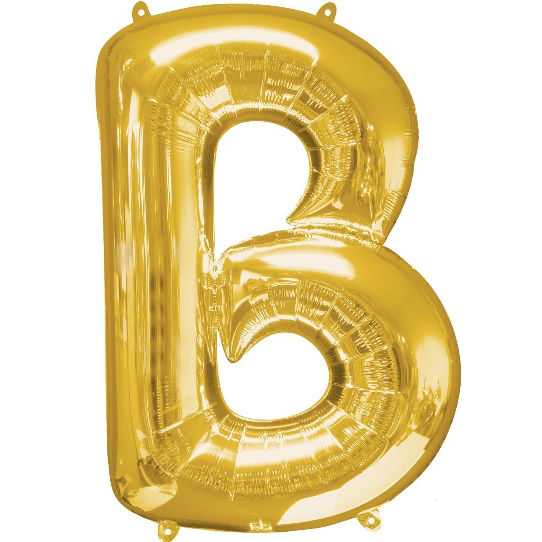 "Letter ""B"" Mylar Balloon -32"" Gold"