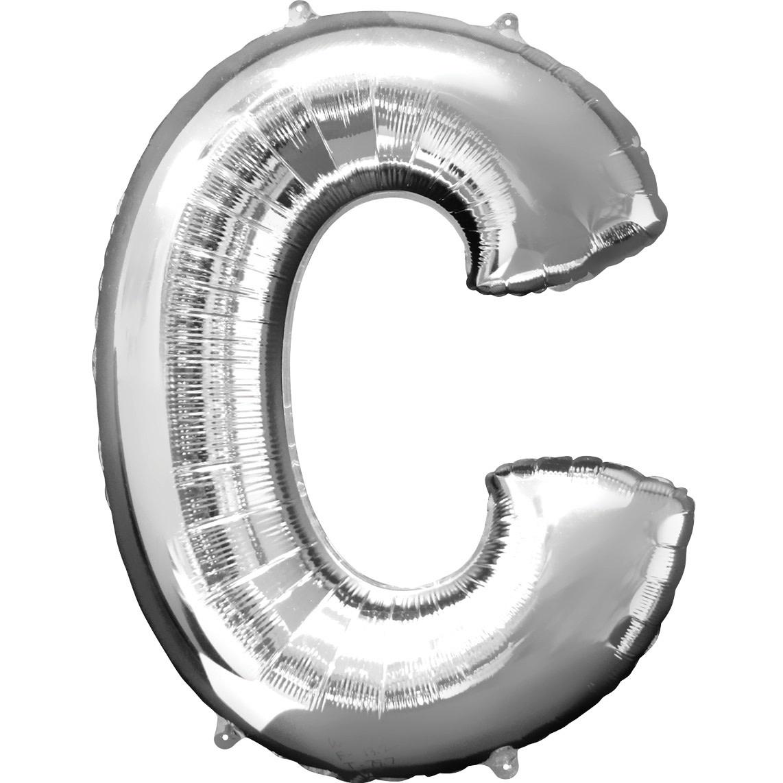 "Letter ""C"" Mylar Balloon -32"" Silver"