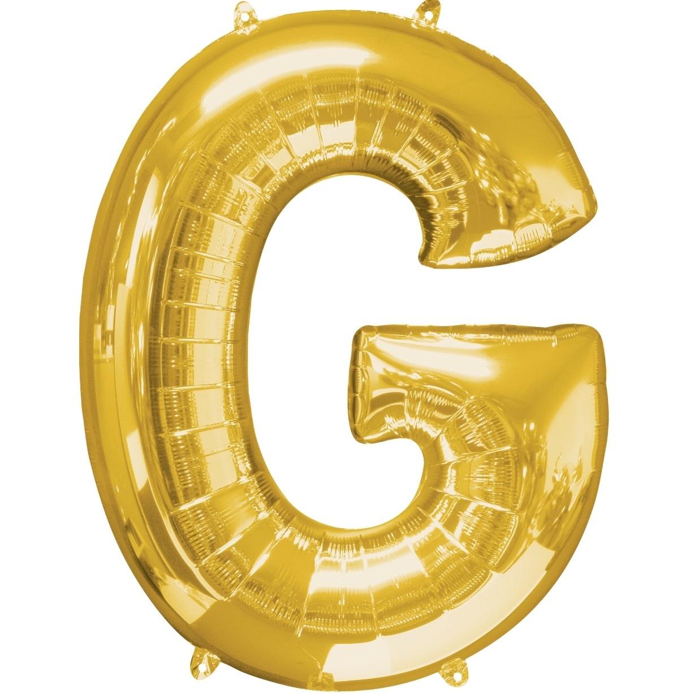"""Letter """"G"""" Mylar Balloon -32"""" Gold"""
