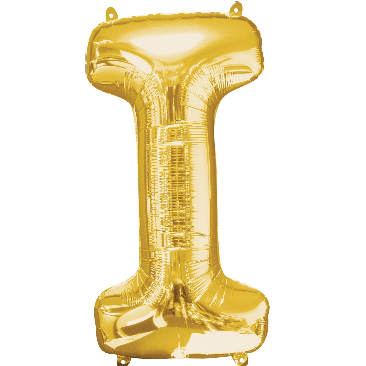 """Letter """"I"""" Mylar Balloon -32"""" Gold"""