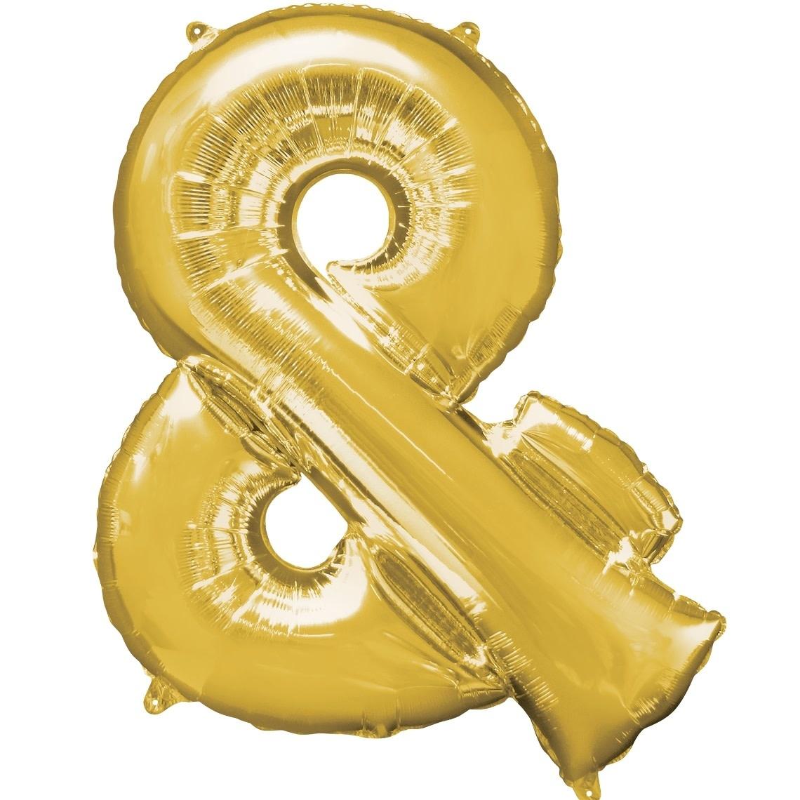 "Ampersand ""&"" Mylar Balloon -32"" Gold"