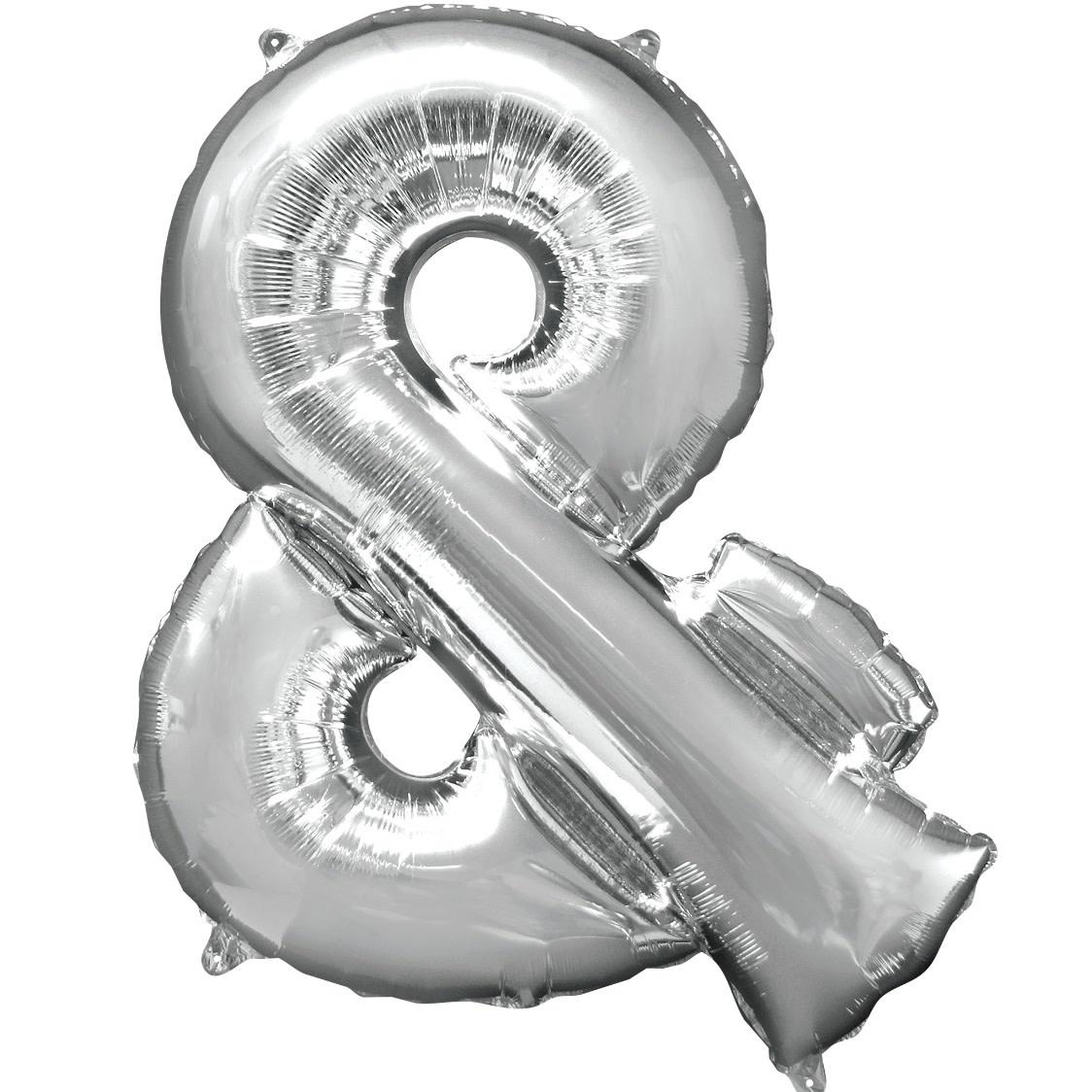 "Ampersand ""&"" Mylar Balloon -32"" Silver"