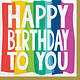 Rainbow Wishes HBD Lunch Napkins (36 Count)