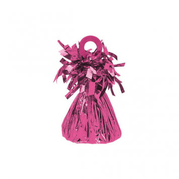 Bright Pink Small Foil Balloon Weight