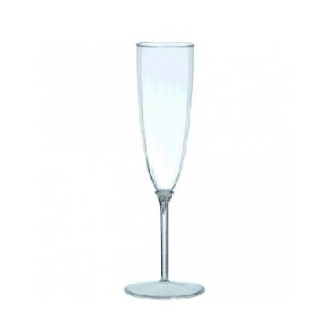 Clear Premium Quality Champagne Flutes- 8 Count